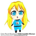 How to Draw Chibi Invisible Woman