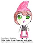 How to Draw Chibi Juliet From Gnomeo and Juliet