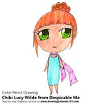 How to Draw Chibi Lucy Wilde from Despicable Me