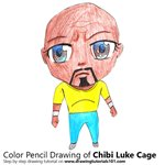 How to Draw Chibi Luke Cage