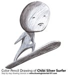 How to Draw Chibi Silver Surfer