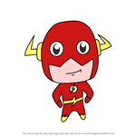 How to Draw Chibi The Flash