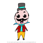 How to Draw Chibi The Ringmaster from Dumbo