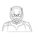 How to Draw Ant-Man Face