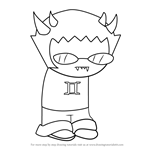 How to Draw Sollux Captor from Homestuck