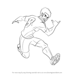 How to Draw North Shaw from Supa Strikas