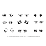 How to Draw Anime Eyes - Female