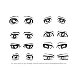 How to Draw Anime Eyes - Male