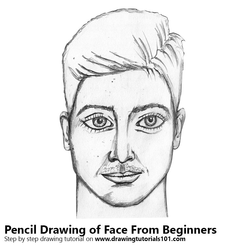 Pencil Sketch of Face for Beginners - Pencil Drawing