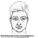 Face for Beginners Pencil Sketch