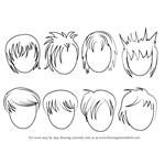 How to Draw Anime Hair - Male