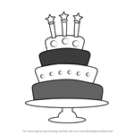 How to Draw a Birthday Cake with Candles
