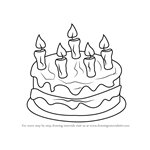 How to Draw Cake with Candles