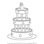 How to Draw a Wedding Cake