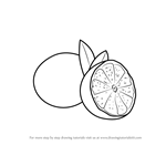 How to Draw a Sliced Lime