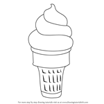 How to Draw Ice Cream Cone