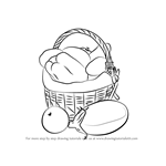 How to Draw Vegetable Basket Easy