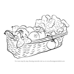 How to Draw Vegetable Basket