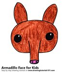 How to Draw an Armadillo Face for Kids