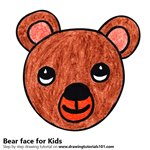 How to Draw a Bear Face for Kids