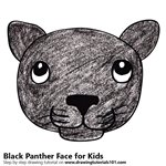 How to Draw a Black Panther Face for Kids