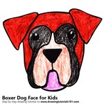 How to Draw a Boxer Dog Face for Kids