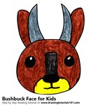 How to Draw a Bushbuck Face for Kids