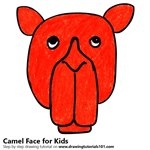 How to Draw a Camel Face for Kids