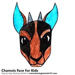 How to Draw a Chamois Face for Kids