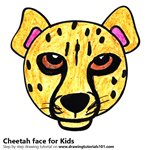 How to Draw a Cheetah Face for Kids