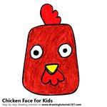 How to Draw a Chicken Face for Kids