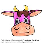 How to Draw a Cow Face for Kids