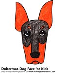 How to Draw a Doberman Dog Face for Kids