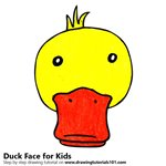 How to Draw a Duck Face for Kids