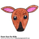 How to Draw a Fawn Face for Kids