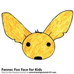 How to Draw a Fennec Fox Face for Kids