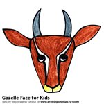How to Draw a Gazelle Face for Kids