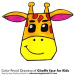How to Draw a Giraffe Face for Kids
