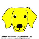 How to Draw a Golden Retrivever Dog Face for Kids