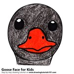 How to Draw a Goose Face for Kids