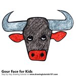 How to Draw a Gour Face for Kids