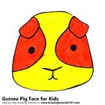 How to Draw a Guinea Pig Face for Kids