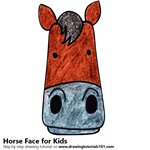 How to Draw a Horse Face for Kids