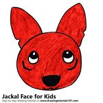 How to Draw a Jackal Face for Kids