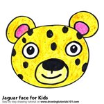 How to Draw a Jaguar Face for Kids