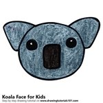 How to Draw a Koala Face for Kids