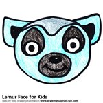 How to Draw a Lemur Face for Kids