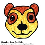 How to Draw a Meerkat Face for Kids