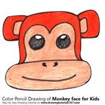 How to Draw a Monkey Face for Kids