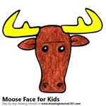 How to Draw a Moose Face for Kids